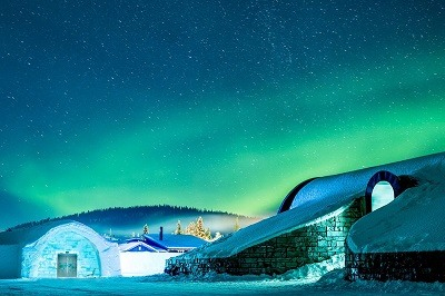 IceHotel northern lights slider