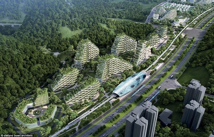 La 'Ciudad del Bosque' que se construiría en Liuzhou, al sur de China