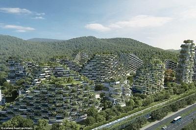 La ciudad sostenible estara cubierta por 40,000 arboles y casi un millon de plantas de 100 especies diferentes