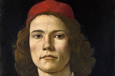 Retrato de joven de Botticelli