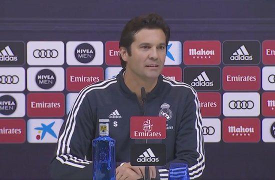 Santiago Solari en rueda de prensa tras se elegido entrenador interino del Real Madrid