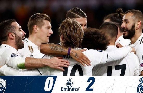 El Real Madrid vence en Roma