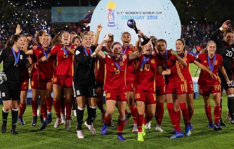 La seleccion espanola de futbol femenino sub17 gana el primer mundial