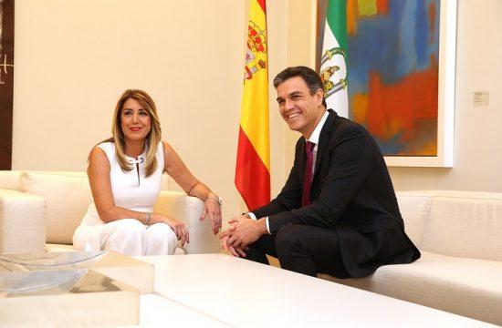 Susana Diaz y Pedro Sanchez