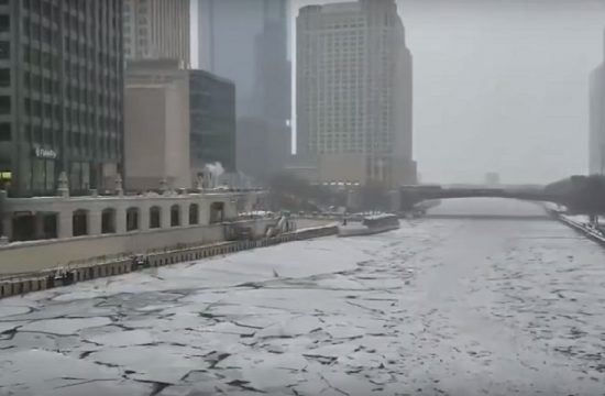 Chiberia frio pola en Chicago