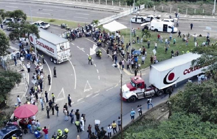 Llega a Cucuta el primer cargamento con ayuda humanitaria para entregar en Venezuela