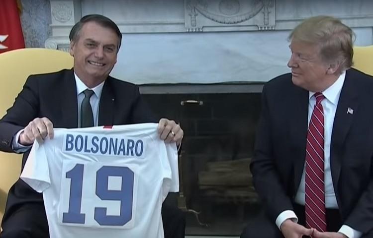 Bolsonaro y Trump en la Casa Blanca