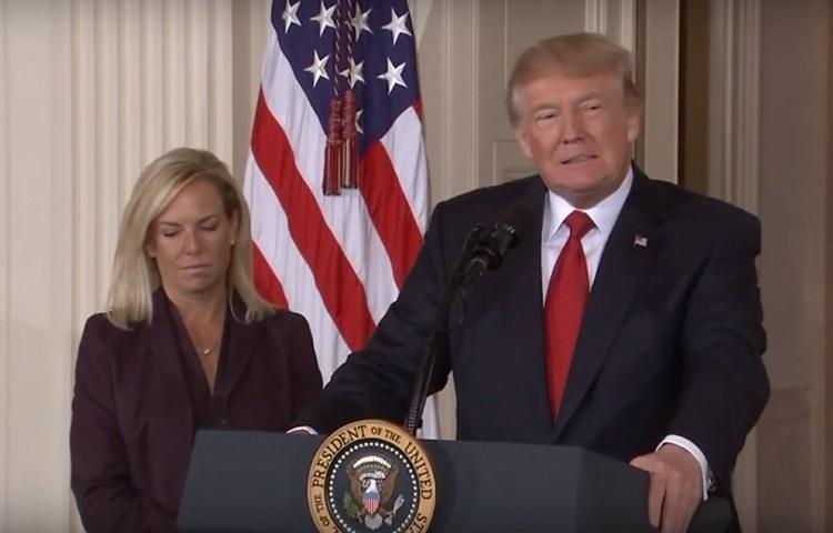 Trump anuncia la marcha de Kirstjen Nielsen