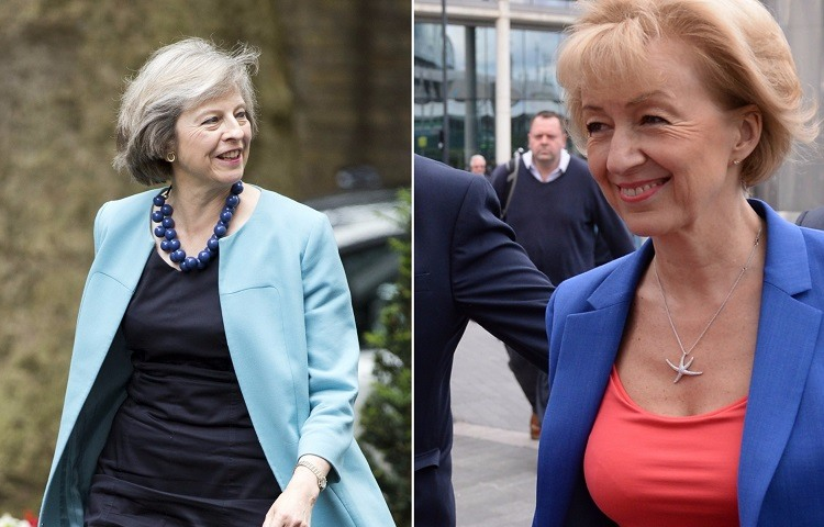 Andrea Leadsom y Theresa May