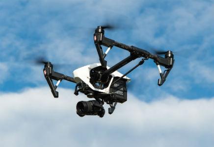 Dron profesional y cualificado