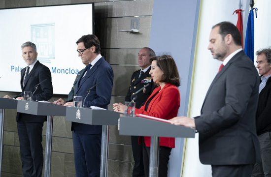 Ministros de Sanidad, de Defensa, del Interior y de Transportes, Movilidad y Agenda Urbana