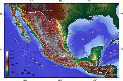 Mapa Topográfico de México