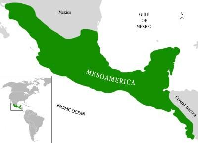 Mapa superregión Mesoamérica